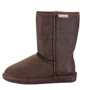 Dark Brown Bearpaw Winter Boots